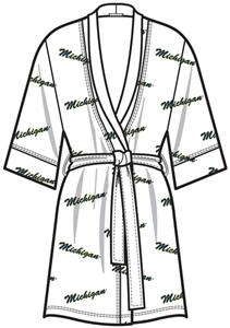 Emerson Street Michigan Womens Spa Kimono Robe