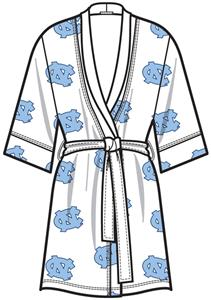 North Carolina UNC Womens Spa Kimono Robe