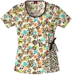 Dickies Women's Fashion Print Scoop Neck Scrub Top