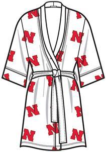 Nebraska Cornhuskers Womens Spa Kimono Robe