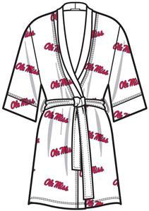 Ole Miss Womens Spa Kimono Robe