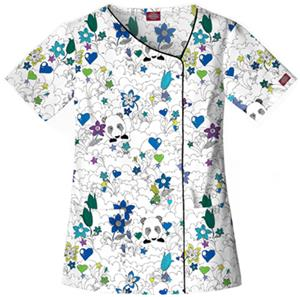 Dickies Womens Asymmetrical Neck Scrub Top