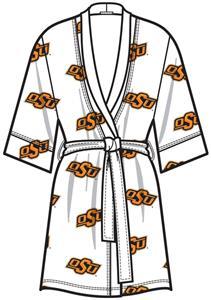 Oklahoma State Womens Spa Kimono Robe