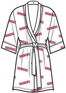 Oklahoma Sooners Womens Spa Kimono Robe