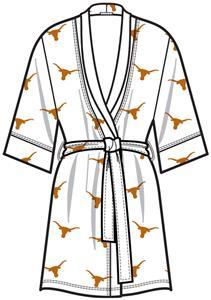 Texas Longhorns Womens Spa Kimono Robe