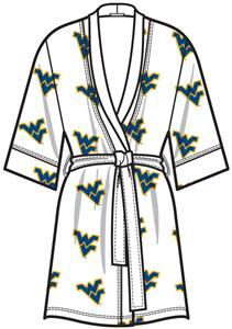 West Virginia Womens Spa Kimono Robe