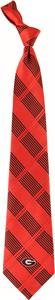 Eagles Wings NCAA Georgia Woven Plaid Tie