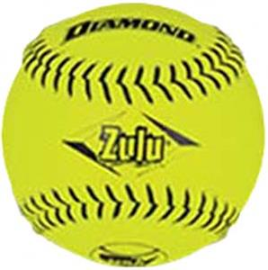 Diamond 12&quot; NSA Black Stitch Slowpitch Softballs