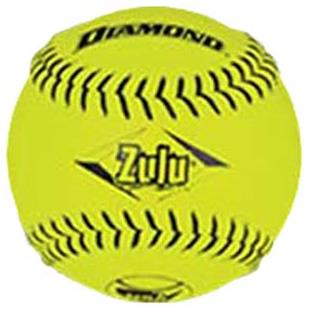 "Diamond 12"" NSA Black Stitch Slowpitch Softballs"