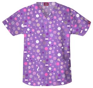 Dickies Women&#39;s EDS Print V-Neck Scrub Tops