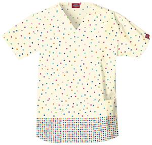 Dickies Women's EDS Print V-Neck Scrub Tops