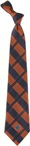 Eagles Wings NCAA Auburn Tigers Woven Plaid Tie