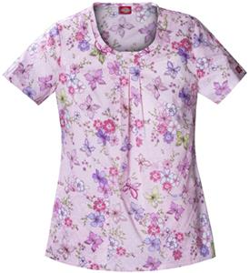 Dickies Women's Fashion Print Rnd Neck Scrub Tops