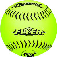 "Diamond Black Stitch NSA Fastpitch 11"" Softballs"