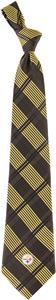 Eagles Wings NFL Steelers Woven Plaid Tie