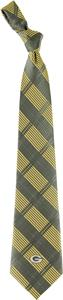Eagles Wings NFL Green Bay Packers Woven Plaid Tie