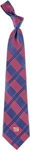 Eagles Wings NFL New York Giants Woven Plaid Tie