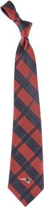 Eagles Wings NFL New England Woven Plaid Tie