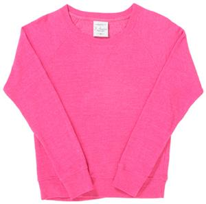 J America Womens Tri-Blend Fleece Crew