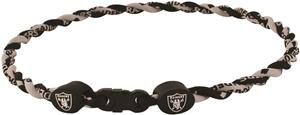 Eagles Wings NFL Raiders Titanium Twist Necklaces