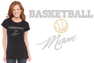 In Your Face Apparel Misses Basketball Mom Bling T