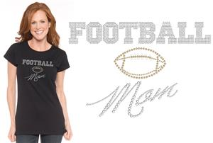 In Your Face Apparel Misses Football Mom Bling Tee