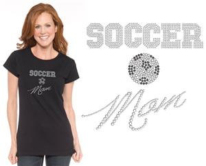 In Your Face Apparel Misses Soccer Mom Bling Tee