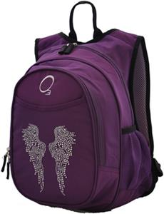 Kids Bling Rhinestone Angel Wing Backpack W Cooler