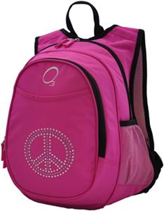 O3 Kids Bling Rhinestone Peace Backpack W Cooler