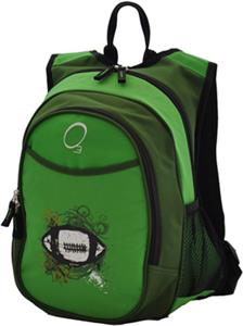 O3 Kids Green Football Backpack With Cooler