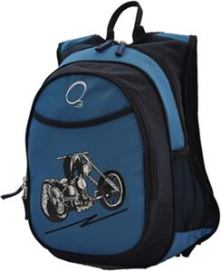 O3 Kids Blue Motorcycle Backpack With Cooler