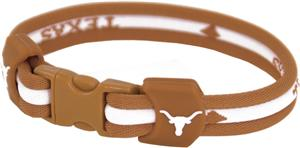 Eagles Wings NCAA Texas Titanium Sport Bracelet