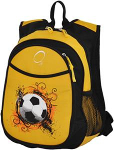 O3 Kids Soccer Ball Yellow Backpack With Cooler