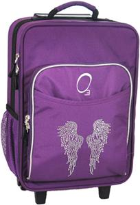 Kids Bling Rhinestone Angel Wing Suitcase W Cooler