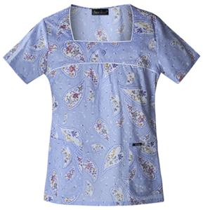 Cherokee Women's Runway Square Neck Scrub Tops