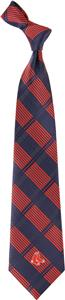 Eagles Wings MLB Boston Red Sox Woven Plaid Tie