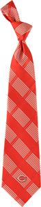 Eagles Wings MLB Cincinnati Reds Woven Plaid Tie