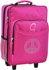 Kids Bling Rhinestone Peace Suitcase With Cooler