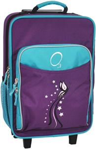 O3 Kids Turquoise Butterfly Suitcase With Cooler