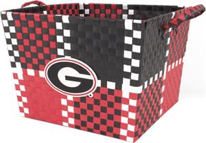 Eagles Wings NCAA Georgia Woven Square Basket