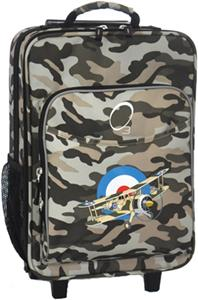 O3 Kids Camo Airplane Suitcase With Cooler