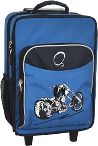 O3 Kids Blue Motorcycle Suitcase With Cooler
