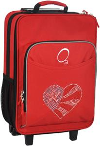 O3 Kids Flag Heart Red Suitcase With Cooler