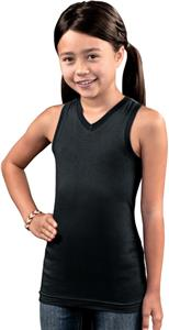 LAT Sportswear Girls Racer Back Longer Length Tank
