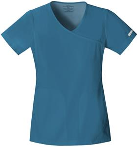 Cherokee Women's Pro Flexibles Mock Wrap Scrub Top