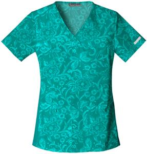 Cherokee Women&#39;s Pro Flexibles PR V-Neck Scrub Top