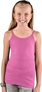 LAT Sportswear Girls Spaghetti Strap Longer Tank