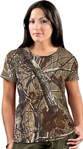 LAT Sportswear Ladies Realtree Camo T-Shirt