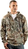 LAT Sportswear Adult Camo Hooded Zip Front Jacket