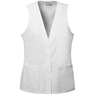 Cherokee Women's Fashion Lace Trimmed Scrub Vests